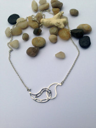 Paisley Silver 2 piece Necklace