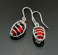 Huayruro Seed Earrings