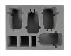 (Adeptus Mechanicus) 4 Skorpius Disintegrator/Dunerider Foam Tray (BFL-3.5)