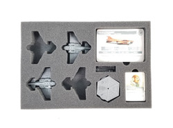 (Aeronautica Imperialis) Thunderbolt Fighter Foam Trays with Unassembled Flight Stands (BFS-1)