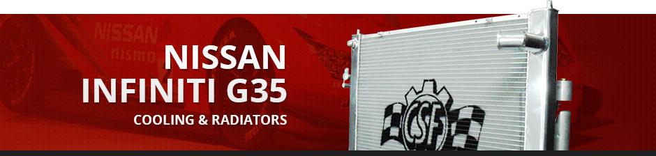 NISSAN INFINITI G35 COOLING & RADIATORS