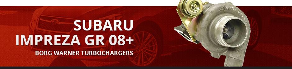 SUBARU IMPREZA GR 08+ BORG WARNER TURBOCHARGERS
