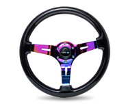 NRG Deep Dish 350mm Wood Grain Steering Wheel - Various Colors