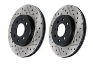 StopTech Brake Rotors - SportStop Drilled & Slotted Nissan 370Z (RIGHT SIDE)