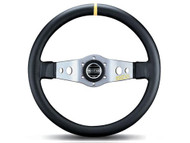 Sparco 015TSFL9 Safari Steering Wheel Black/Silver 350mm Leather