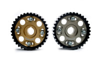 Buddy Club Racing Spec Cam Gear B16/18 Titinium/Gold (Pair)