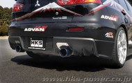 HKS Legamax Premium - Mitsubishi - EVO X - CZ4A - 65-60mm Pipe - Tail 110mm - 2 Pieces - Center Pipe Set