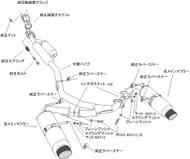 HKS Hi-Power SPEC-L Exhaust kit for Scion FR-S - Titanium tip, 1 piece mid pipe