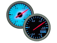 HKS DB Series Boost Gauge KPA Mechanical Black Face