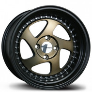 Avid.1 AV-19 15x8.5 Flat Black/Bronze 4-100 [+17mm]
