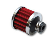 "Vibrant Performance - Crankcase Breather Filter w/ Chrome Cap - 1/2"" (12mm) Inlet I.D."