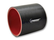 """Vibrant Performance - 4 Ply Silicone Sleeve, 3.25"""" I.D. x 3"""" long - Black"""