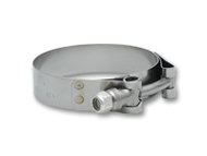 """Vibrant Performance - Stainless Steel T-Bolt Clamps (Pack of 2) - Clamp Range: 2.53""""-2.75"""""""