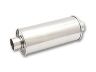"""Vibrant Performance - STREETPOWER Oval Muffler, 3"""" inlet (Center In - Dual Out)"""