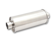 "Vibrant Performance - STREETPOWER Round Muffler, 2.25"" inlet/outlet (Center-Center)"