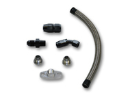 "Vibrant Performance - Universal Oil Drain Kit for GT Series Turbos (12"" long line)"