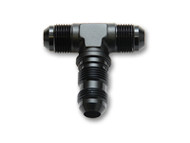 Vibrant Performance - -4AN Bulkhead Adapter Tee Fitting - Anodized Black Only
