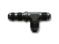 Vibrant Performance - -3AN Bulkhead Adapter Tee on Run Fittings - Anodized Black Only