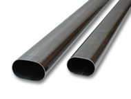 "Vibrant Performance - 4"" Oval (nominal) T304 Stainless Steel Straight Tubing - 5 feet long"