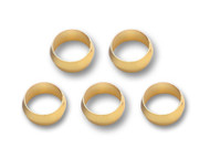 """Vibrant Performance - Pack of 5, Brass Olive Inserts 3/8"""""""