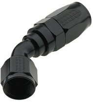 Fragola - #6An 45 Degree Pro-Flow Hose End - Black