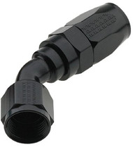 Fragola - #8An 45 Degree Pro-Flow Hose End - Black