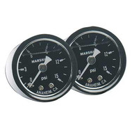 Fragola - Fuel Pressure Gauge 0-60 Psi Liquid Filled