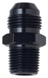 Fragola - Adapter, Straight, Male -3 An To Male 1/4 In. Npt, - Aluminum, Black Anodized