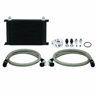 Mishimoto - Universal Thermostatic Oil Cooler Kit, Black, 25 Row
