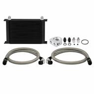 Mishimoto - Universal Thermostatic 19 Row Oil Cooler Kit, Black