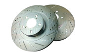 P2M Rear Rotors Slotted and Drilled for Scion FR-S & Subaru BRZ