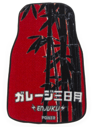 Garage Moon Power X Enjuku Racing Collaboration Floormats - Red