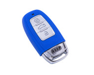 Agency Power Blue Rubber Key FOB Protection Case Audi B8 A4 A5 S5 A8 S8 A6 S6 RS4 RS5 10-14