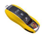Agency Power Matte Yellow Plastic Key FOB Protection Case Porsche Cayenne 958 11-15  Panamera 10-15 981 991