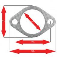 Apexi Oval Muffler Gasket, 2-Bolt (Honda, Mazda, Toyota) NA