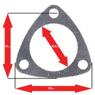 Apexi Triangle Muffler/Downpipe Gasket, 3-Bolt (Nissan)