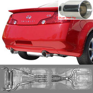 Stillen Cat-Back Exhaust 03-07 G35 Coupe - Dual Wall Tips - Stainless