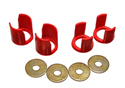 Energy Suspension - S13 Subframe Bushing Set - RED