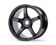 GramLights Glossy Black 57CR Wheel 17x9 5x100 38mm
