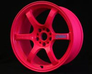 GramLights Fluorescent Pink 57D Wheel 18x9.5 5-114.3 22mm