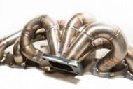 Cinder Track Fabrication Single Scroll T4 Manifold - 44mm V-Band Wastegate for Nissan RB20/25/26