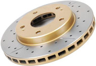 DBA Street Series Rotors Rear Drilled/Slotted Rotors for Ford Mustang 2005-2009