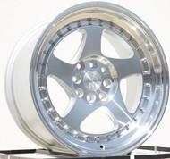 AODHAN Wheels AH01 – 15x8 +20 4x100/114.3 Silver Machined Face And Lip