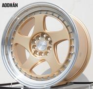 AODHAN Wheels AH01 – 17x9 +25 5x100/114.3 Gold Machined Lip
