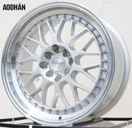 AODHAN Wheels AH02 – 18x8.5 +25 5x112 Silver Machined Lip