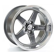 Cosmis Racing XT-005R Wheel Gun Metal w/ Machined Lip 18x9 +25mm 5x120