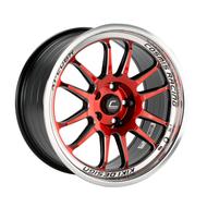 Cosmis Racing XT-206R Black w/ Red Face & Machined Lip 18x9 +33mm 5x114.3