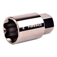NRG Lug Nut Lock Key Socket Black Chrome 17mm (Spare)