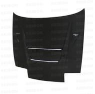 Seibon DVII Style CARBON FIBER HOOD NISSAN 180SX / 240SX (S13)* 1989-1994