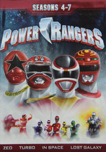 Power Rangers Seasons 4-7 21 DVD Collection FRONT COVER
